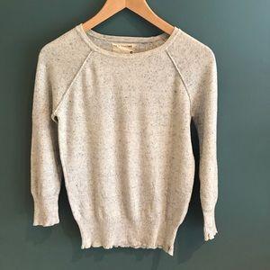 Rag & Bone heathered cream blue sweater small